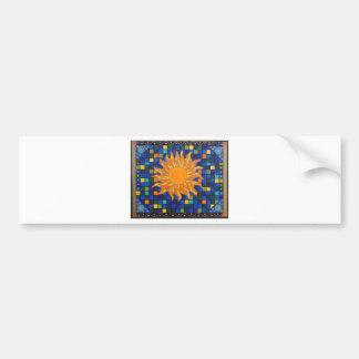 Mosaic Sun Bumper Sticker