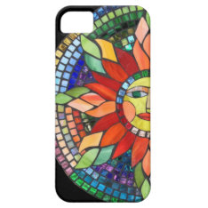 Mosaic Sun Cell Phone Case at Zazzle