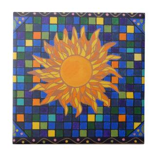 Mosaic Sun Ceramic Tile