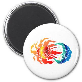 Mosaic Sun & Moon 2 Inch Round Magnet