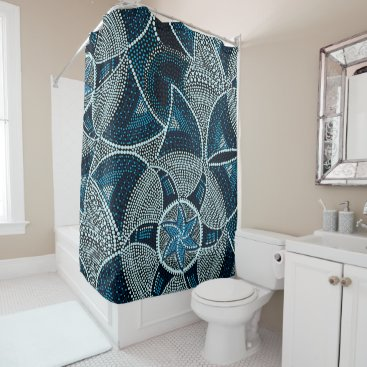 adamfahey Mosaic sun shower curtain