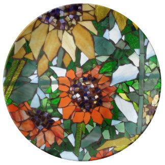 Mosaic Sunflower Plate