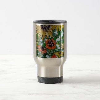 Mosaic Sunflowers Travel Mug