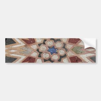 Mosaic tesselate ornamental star - Sticker Car Bumper Sticker