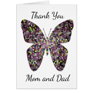 Mosaic Thank You Mom and Dad Graduation College Card