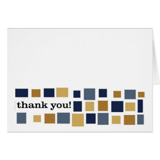 Mosaic Thank You -- Navy Blue and Gold Card
