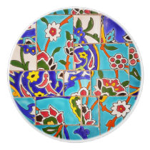 Mosaic Tile Design Ceramic Knob