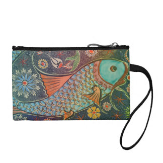 Mosaic Tile Fish Change Purse