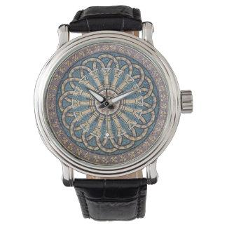 Mosaic Tile Medallion Greco-Roman Columns Watch