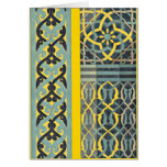 Mosaic Tile pattern any color Greeting Cards