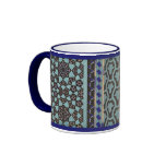 Mosaic Tile pattern - any color Ringer Coffee Mug