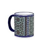 Mosaic Tile pattern - any color Ringer Coffee Mug