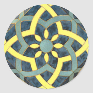 Mosaic Tile pattern any colour Classic Round Sticker