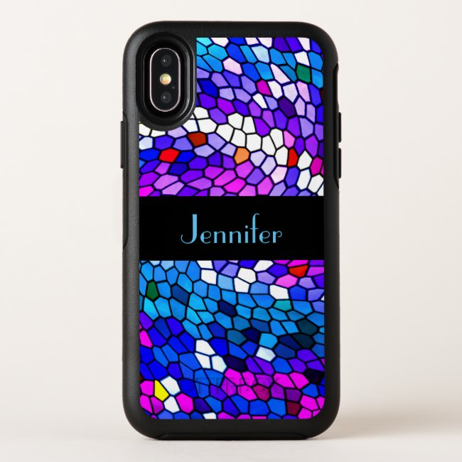 Mosaic Tile Pattern OtterBox iPhone X Case
