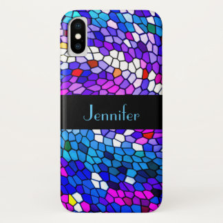 Mosaic Tile Pattern Personalized iPhone X Case