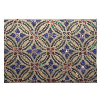 Mosaic tile pattern stone glass Moroccan photo Placemat