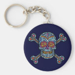 Mosaic Tile Pirate Key Chains