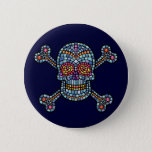 Mosaic Tile Pirate Pinback Button