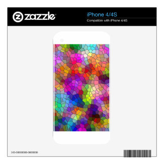 Mosaic Tile Rainbow Decals For The iPhone 4