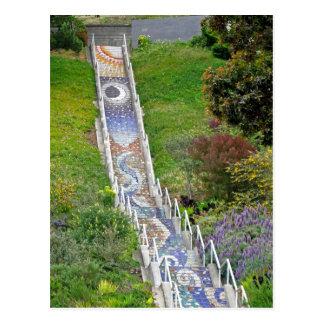 Mosaic Tile Stairway Postcard