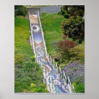 Mosaic Tile Stairway Print
