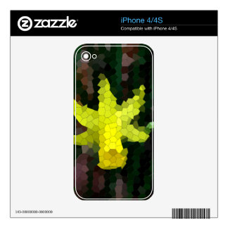Mosaic Tiled Yellow Daffodil iPhone 4 Decal