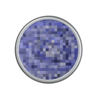 Mosaic Tiles Blurry Blue – Shades of Blue Speaker