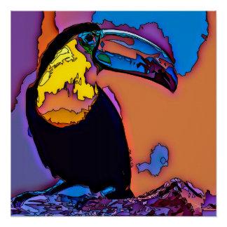 Mosaic Toucan Poster