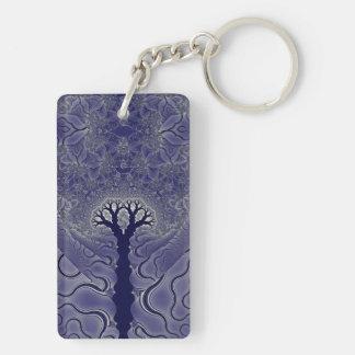 Mosaic Trees Keychain