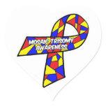 Mosaic Trisomy Awareness Heart Sticker
