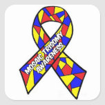 Mosaic Trisomy Awareness Square Sticker
