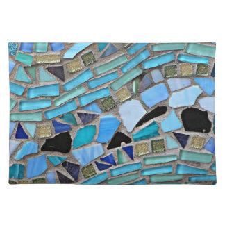 Mosaic turquoise pattern cloth place mat