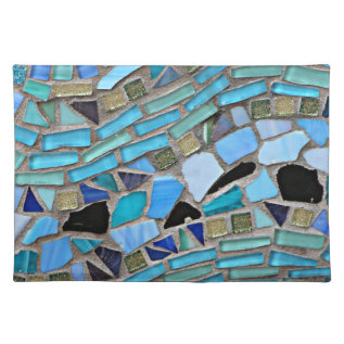 Mosaic Turquoise Pattern Cloth Placemat at Zazzle