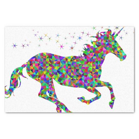 Mosaic Unicorn Tissue Paper Zazzle Com