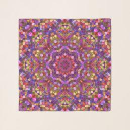 Mosaic Vintage Kaleidoscope  Chiffon Scarf