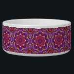 "Mosaic  Vintage    Kaleidoscope   Pet Dish<br><div class=""desc"">Give your dog, cat or bunny a treat in a beautiful colorful funky custom pet food bowl! Beautiful tie dye, kaleidoscope and fractal patterns great for anyone who likes to be colorful. Add any text or pictures you like easily with the customize button. Many fonts and text colors to choose...</div>"