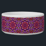 """Mosaic  Vintage    Kaleidoscope   Pet Dish<br><div class=""""desc"""">Give your dog, cat or bunny a treat in a beautiful colorful funky custom pet food bowl! Beautiful tie dye, kaleidoscope and fractal patterns great for anyone who likes to be colorful. Add any text or pictures you like easily with the customize button. Many fonts and text colors to choose...</div>"""