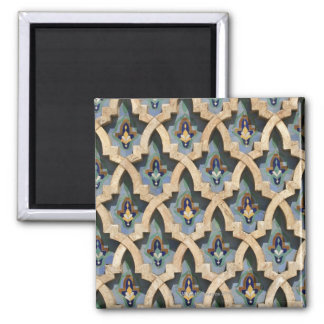 Mosaic Wall, Hassan II Mosque-Casablanca 2 Inch Square Magnet