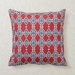 Mosaic Wallpaper Throw Pillow