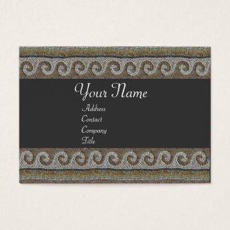 MOSAIC WAVES , grey brown Business Card