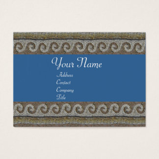 MOSAIC WAVES , light grey brown blue Business Card