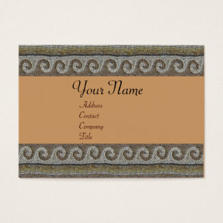 MOSAIC WAVES , light grey brown Business Card