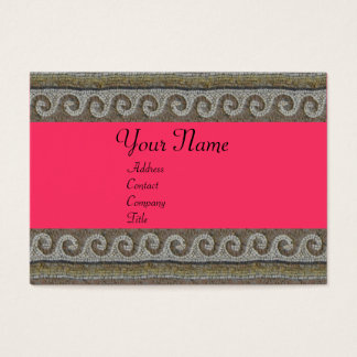 MOSAIC WAVES , light grey brown pink Business Card