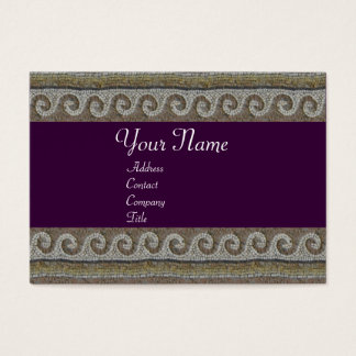 MOSAIC WAVES , light grey brown purple Business Card