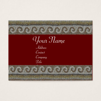 MOSAIC WAVES , light grey brown red Business Card