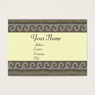 MOSAIC WAVES , light grey brown white Business Card