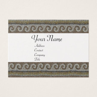 MOSAIC WAVES , light grey brown white pearl paper Business Card