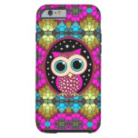 mosaic with pink owl tough iPhone 6 case
