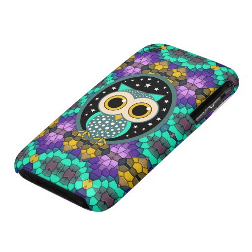 mosaic with turquoise owl iPhone 3 covers
