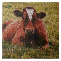 MosaicArt Cow Ceramic Tile